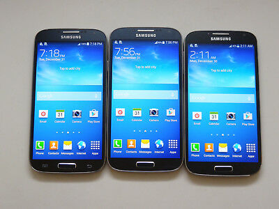 Lot of 3 Samsung Galaxy S4 T-Mobile SGH-M919 16GB Smartphones AS-IS GSM !