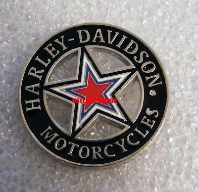 Harley Davidson Biker  ENAMEL COLORS 5 POINT STAR PIN FREE SHIPPING IN USA