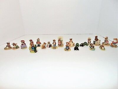 Penni Bears Collectible lot of 17 1990 Plus 3 Frogs Figurine