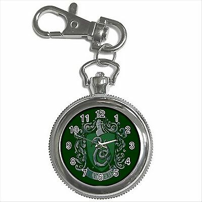 NEW HARRY POTTER SLYTHERIN HOGWARTS SCHOOL Key Chain Ring Watch Gift D02