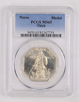 MS65 1925 Norse-American Medal-Thick - PCGS Graded *2544