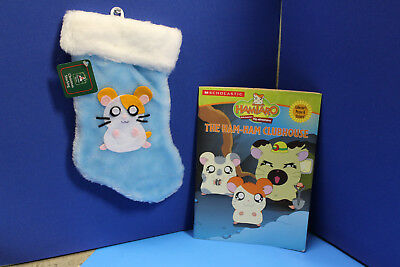 HAMTARO Christmas XMAS STOCKING plush COLORING BOOK poster hamster set toy lot
