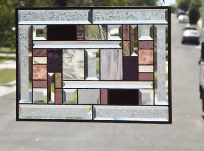 """Time for WINE ! Stained Glass Panel  20 1/2"""" x 14 1/2"""" Sold Separately"""