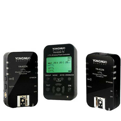 New Yongnuo YN-622N-TX Controller + 2x YN622N Flash Trigger i-TTL for Nikon US