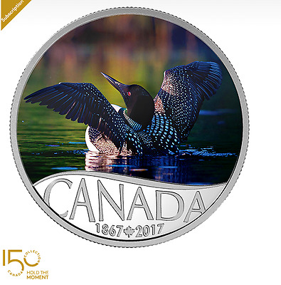 1/2oz Pure Silver Coin - Celebrating Canada's 150th Coin Series Common Loon 2016
