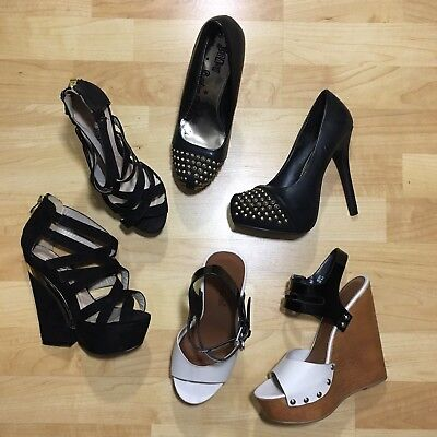 3 Pairs of Shoes Shoe Dazzle Just Fab Wedges Heels Size 6.5