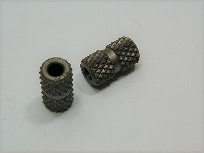 (2) 3/16 ID Diamond Groove Knurled Drill Bushing ~ Aircraft Tooling Tools