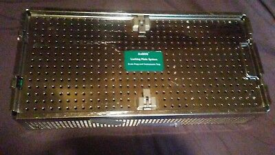 One ( Empty) STRYKER CONTAINER  FRAGMENT instruments TRAY AxSOS LOCKING PLATE