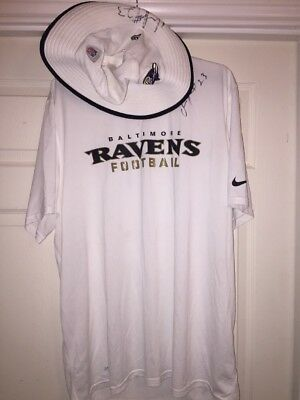 242564ab Chykie Brown Baltimore Ravens Game Used Worn Shirt & Hat Auto Signed  Longhorns