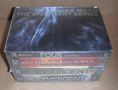 Divergent: Divergent Series Four-Book Paperback Box Set by Veronica Roth NEW