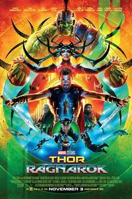 THOR - RAGNAROK - ONE SHEET MOVIE POSTER 24x36 - MARVEL COMICS 52445