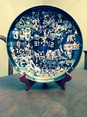 Danbury Mint Oakland Raiders 2001 AFC West Champions Plate