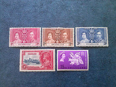 Swaziland 1935 Silver Jubilee-1937 Coronation-1963 Freedon From Hunger