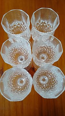 As New Hardly used set of 6 champagne crystal glasses in perfect condition