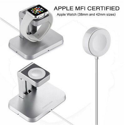 Magnetic Charger Charging Cable & Aluminum Stand for Apple Watch iWatch 38/42mm