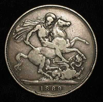 1889 Crown from Victorian England.  No Reserve!