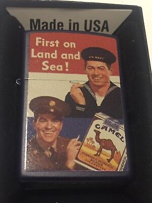 Camel Cigarettes Navy And Army Vintage Style Ad Zippo Unopened Sticker 2016