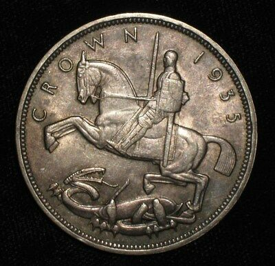1935 Crown from England.  No Reserve!