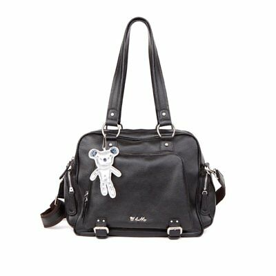 REDUCED from $299 IL TUTTO After Baby Bag Black Genuine Leather Nappy Handbag