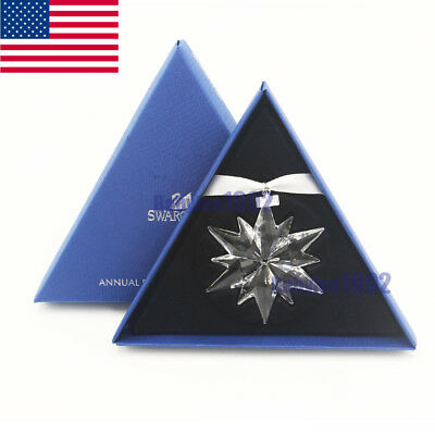2017 Annual Edition Hot Six Petals Snowflake Large Christmas Ornament Crystal