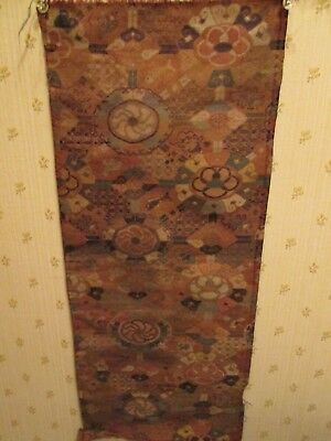 """Ming textile - silk and strap gold 20 1/2 """" x 8 1/2 """" (formerly Liske col. )"""