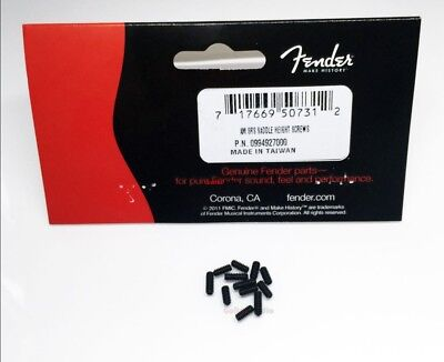 12 Genuine USA Fender American Series Guitar Bridge Saddle Height Screw BLACK