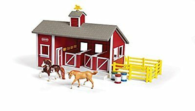 Breyer Stablemates Red Stable And Horse Set Kids Farm Toy Barn Pretend Play Gift