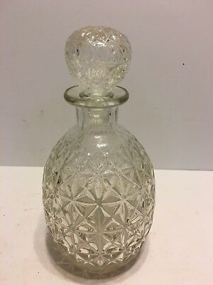Vintage Beautiful Clear Glass Wine Decanter Bottle with Glass Stopper