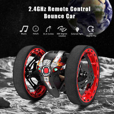 New 2.4GHz 4CH RC Bounce Car Remote Control Jumping Stunter 360° Spin Kids Gift