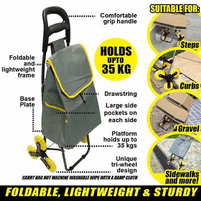Climb steps Trolley  Shopping Grocery Cart Trolley Bag  up to 35kg