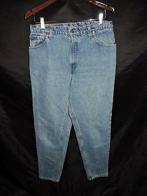 Vintage Levi's Sz 15 550 Blue Jeans Relaxed Fit Tapered Leg High Rise Denim 15 M
