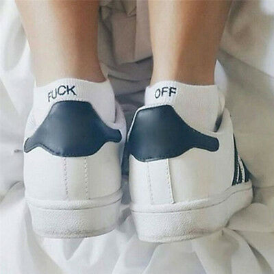 New Fashion Men Women Fuck-off Design Print Unisex Knit Sport Deodoran Socks FR