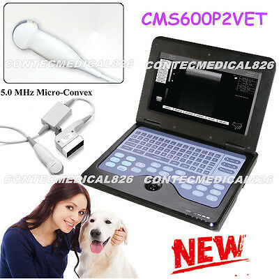 Notebook CMS600P2 Vet Veterinary Ultrasound Scanner For Dog / Cat / Small Animal