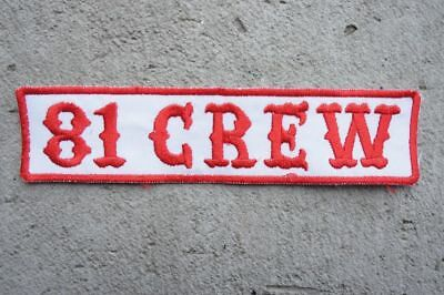 SUPPORT 81Crew Red White MC Angels 666 Hells vest patch Outlaw Biker 1% er