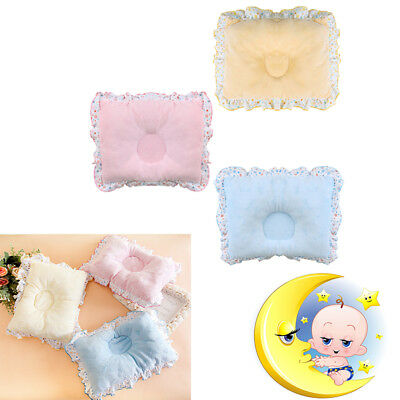 Newborn Infant Baby Pillow Support Cushion Pad Prevent Flat Head Crib Cot Bed