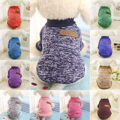 Puppy Chihuahua Yorkie Pet Dog Fleece Clothes Coat Jacket Sweater Warm Clothes