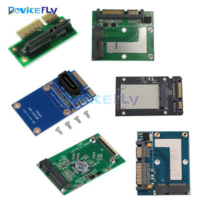 Mini PCI-e/mSATA SSD/Express to 40pin ZIF/7pin/2.5'' SATA Adapter Converter Card