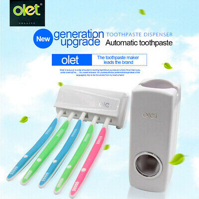 Cute Minion Toothpaste Dispenser Kids Toothbrush Holder Auto Toothpaste Squeezer