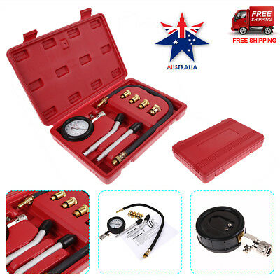 Motorcycles Petrol Engine Automotive Compression Test Gauge Tester Kit Tool Set
