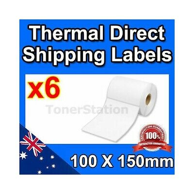 6x 350 100x150mm Direct Thermal Shipping 4x6 Label For Fastway Startrack eParcel