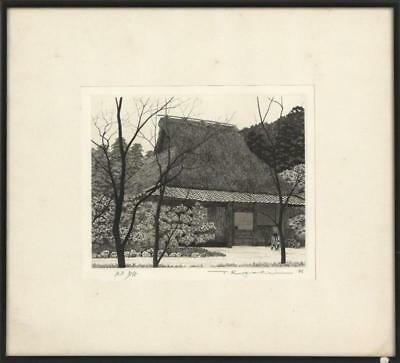 """TANAKA RYOHEI Depicting a farmhouse and bicycle. Inscribed """"A.P. 5/15""""... Lot 82"""