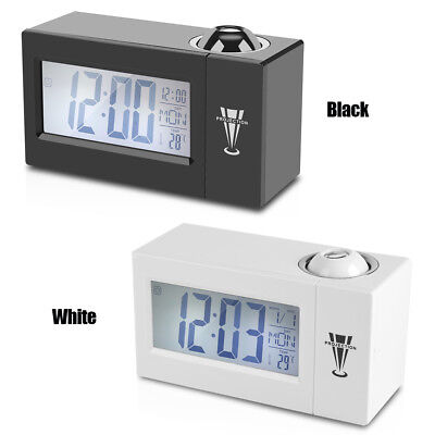 Snooze Voice Talking LCD Digital Projection Wall Backlight Alarm Clock Weather H