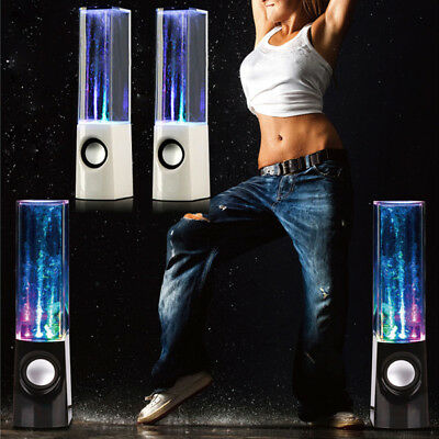 New LED Dancing Water Light Bluetooth Speakers Show Music Fountain for Phones PC