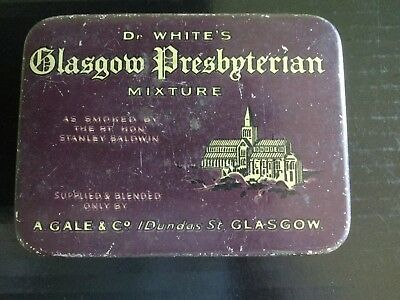 "Dr. White's Glasgow Presbyterian Tobacco Tin "" Nice...hard to come by """