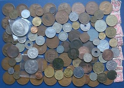Large Job lot Bulk Collection Mix of World Coins low start £0.01