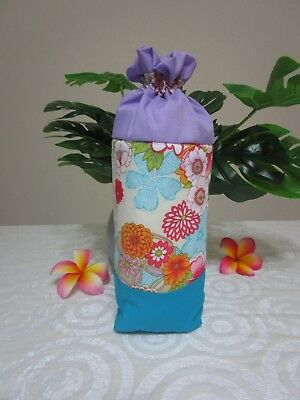 Insulated baby bottle holder-Oriental flowers-Ivory-Fits all baby bottle sizes.