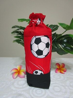 Insulated baby bottle holder-Red,soccer balls-Fits all baby bottle sizes.