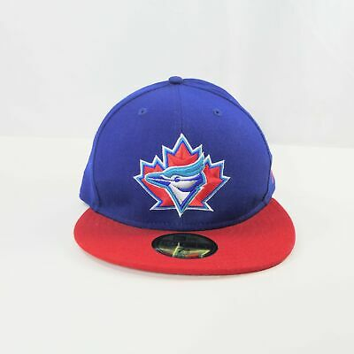 the latest 6989e f70a7 Vtg 1997 NEW ERA 59Fifty MLB TORONTO BLUE JAYS Fitted Blue Cap Hat 7 3