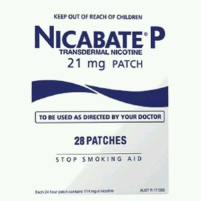 NICABATE P PATCH 21MG  STOP SMOKING 24HR STEP 1  28 PATCHES - OzHealthExperts
