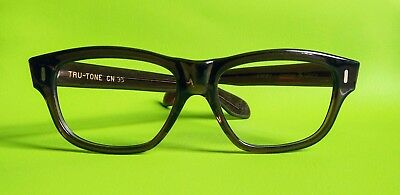 Vintage Late1960s NOS American Optical 'Turnpike' Eyeglasses/Sunglasses 56/00